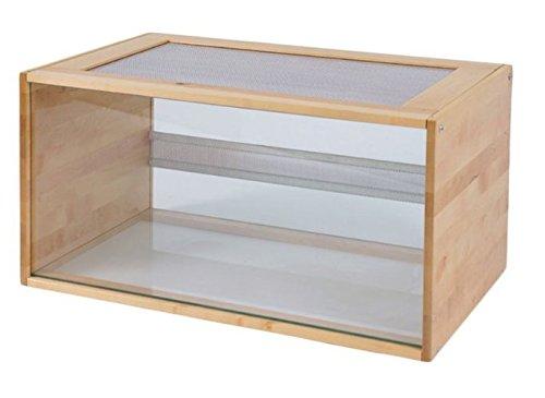 En bois et verre Pour Terrarium – avec panneaux aérés, une entrée avec une pratique servo-lift – Une maison idéale pour votre petit pelleteuses