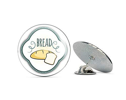 Leyland Designs Bread Badge Food Metal 0.75' Lapel Hat Pin Tie Shirt Backpack Tack Pinback