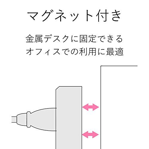 エレコム 電源タップ OAタップ 2P式/7個口/5m マグネット付 雷ガード機能付 一括スイッチ付 T-Y3A-2750WH ELECOM
