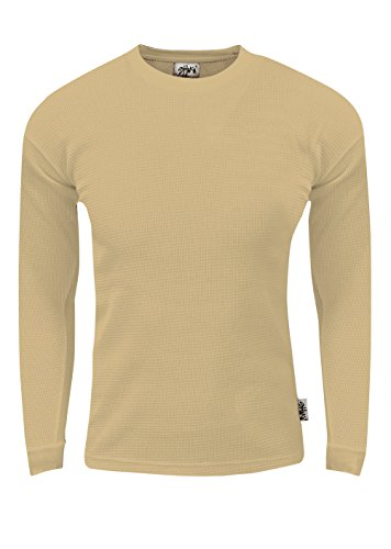 Men's Cotton Thermal Knit Crew Neck Sweater