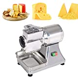NEWTRY Commercial Electric Cheese Grater Cutter MachineFood Shredder Grater Stainless Steel for Bread Chocolate Nuts Coconut Potato Ginger Garlic Cassava 550w /0.75P 40kg/h