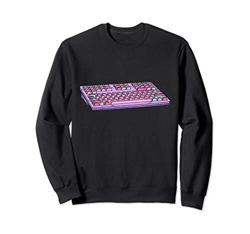 Computer Keyboard Vaporwave Aesthetic Retro 80s 90s Sweatshirt