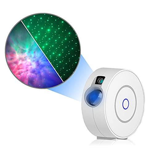 WODQYAZ Proyector Smart Star, Proyector de Luz LED con App Control, Temporizador, Control por Voz, Proyector de Cielo Estrellado para La Fiesta de Los Niños del Dormitorio