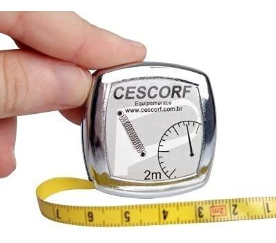 Cinta Métrica Cescorf Antropométrica para Medir Perímetros Corporales.Precisión de 1mm, Rango de 2m