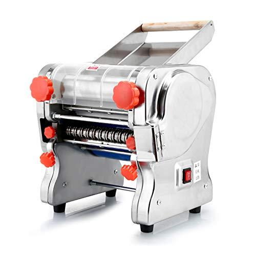 XLST 750W Elektrische Nudelmaschine Multifunktion Vollautomatisch Pasta Maschine Einfache Reinigung Und Verwendung Teigbreite 18CM Teigstärke 0,1-20 Mm (Silber)
