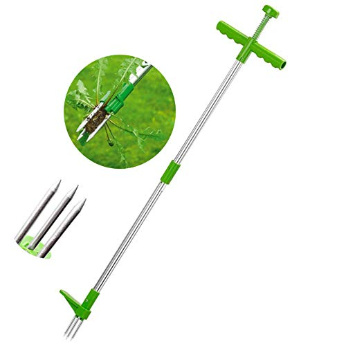 Removedor de raíces para exteriores, herramienta para deshierbe, portátil, Manual, para césped y jardín, mango largo, de aluminio, extractor de hierba, ligero