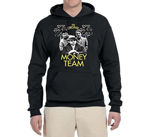 Original Money Team | Cocaine Cowboys El Chapo Pablo Narcos | Mens Pop Culture Hooded Sweatshirt Graphic Hoodie, Black, Medium