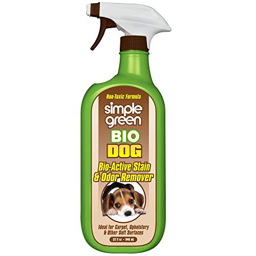Simple Green Bio Active Stain & Odor Remover for Pet & Carpet- Non-Toxic, Pet & People Safe (32 oz), Milky White (2010001215301)
