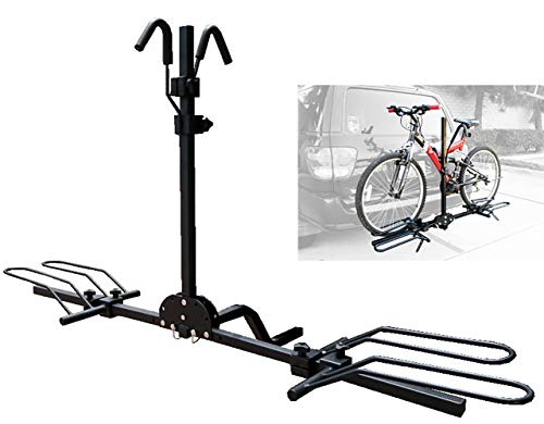 QDWRF Porta Bicicletas, Portabicicletas para Enganche, Portabicicletas - Portaequipajes Montado En Enganche para 2 Bicicletas para Autos, SUV Y Camiones, Negro