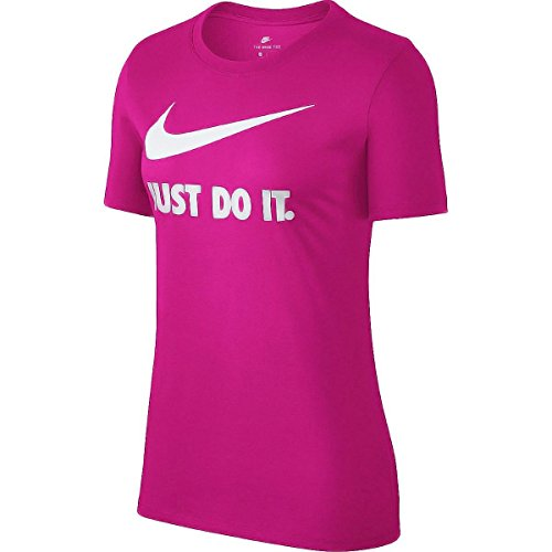 Nike Damen Crew JDI Swoosh HBR T-Shirt, Watermelon/White, M