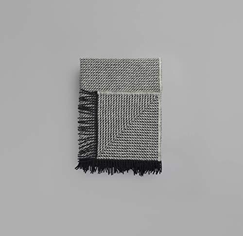 RØROS TWEED Frogner Wolldecke | Kuscheldecke aus norwegischer Lammwolle | Design von Anderssen & Voll | Deckenmaße: 150x210cm (4851 Natur)