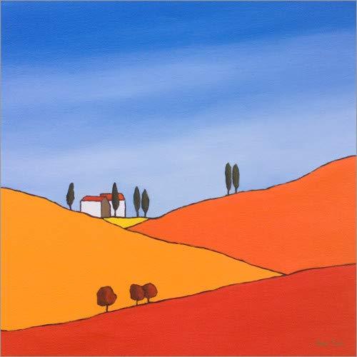 Posterlounge Leinwandbild 70 x 70 cm: Herbstfelder IV von Hans Paus/Advocate Art - fertiges Wandbild, Bild auf Keilrahmen, Fertigbild auf echter Leinwand, Leinwanddruck