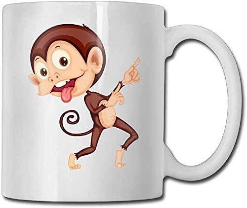Cute Cartoon Monkey Tazza da caffè in ceramica Tazze da tè per ufficio e casa (11 oz)
