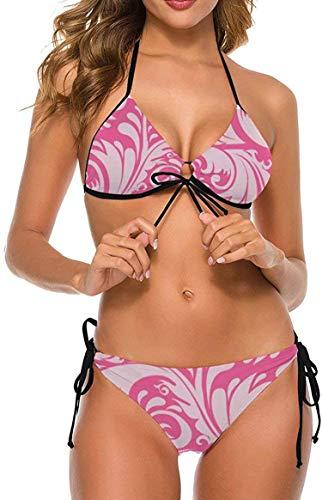 my cat Bikini 2-teiliges Set/umweltfreundliches Badebekleidungs-Geschenkset Bikini - Dreieck-Set Blütenpflanze Tropische Pflanzen Bunte Blätter-Wrapp6-Large