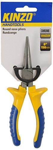Kinzo 72096 - Alicates con puntas redondeadas con vanadio (150mm, cromado)