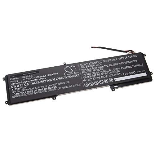 vhbw Akku kompatibel mit Lenovo Razer Blade 14 Inch (128GB), 14 Inch (2013) Notebook (6300mAh, 11,1V, Li-Polymer)