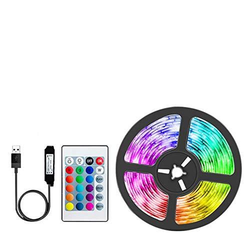 Tira de luces LED USB Bluetooth RGB Lámpara de iluminación LED Control de aplicación de teléfono de luz para luces Fiesta de retroiluminación de TV