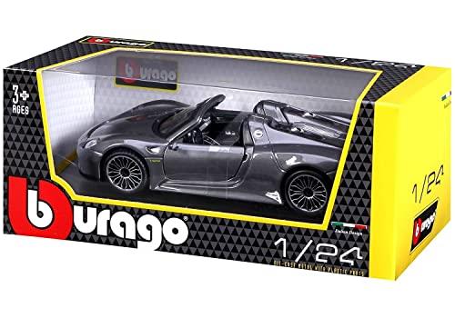 Bburago 1:24 Scale Porsche 918 Spyder Diecast Vehicle (Colors May Vary)