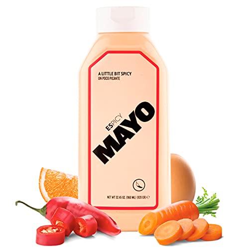 ESPICY Mayo 960 ml   Mayonesa con el Toque Perfecto de Picante   Cremosa   Sin Gluten   Apto para Vegetarianos   Keto Friendly   Hecho en España   Picor: 2/10