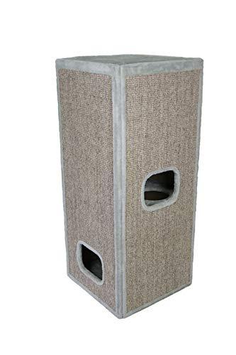 animal-design Katzen-Kratztonne Connell Sisal-Kratzturm, Farbe:grau