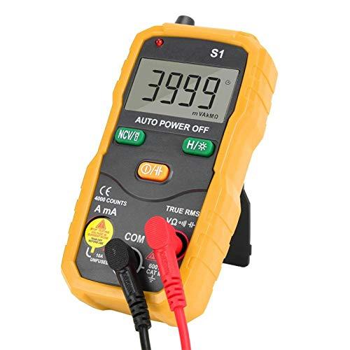 Multímetro digital de alta precisión RMS NCV para electricistas domésticos (amarillo)