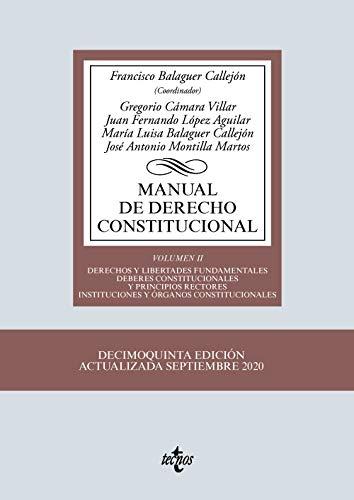 Manual de Derecho Constitucional: Vol. II: Derechos y libertades fundamentales. Deberes constitucionales y principios rectores. Instituciones y órganos constitucionales