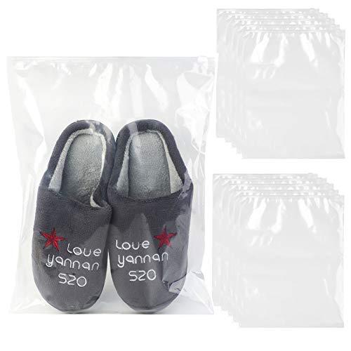 Fansport 20 Pcs Bolsa De Zapatos,Transparente Bolsa Viaje Zapatos Prueba de Polvo Impermeable Bolsa de Zapatos,para Camping,Transporte y Almacenar de Zapatos