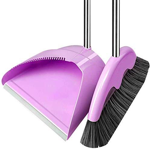 Lowest Price! Zichen Long Handle Soft Brush Head Dustpan Broom Set Indoor Use (Color : Green, Size :...