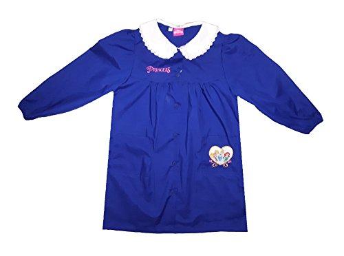 Disney grembiule scuola bimba PRINCIPESSE nuova collezione blu o nero art. G022 (75, blu)