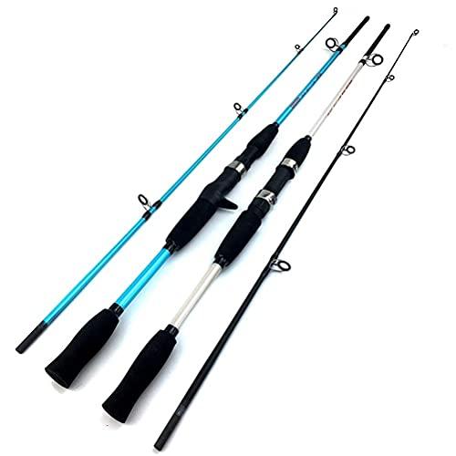 KCGNBQING Caña de Pescar 1. 5M 1.8M M Power Lure Rod Casting Spinning WT 3G-21G Barco Ultra liviano de la Pesca de señuelo, Blanco, 1 m caña de Pescar (Color : Multicolor, Size : 5M)