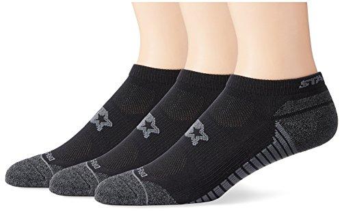 Starter Men's 3-Pack Athletic Microfiber Low-Cut Ankle Socks, Amazon Exclusive, Black, Large (Shoe Size 9-12)