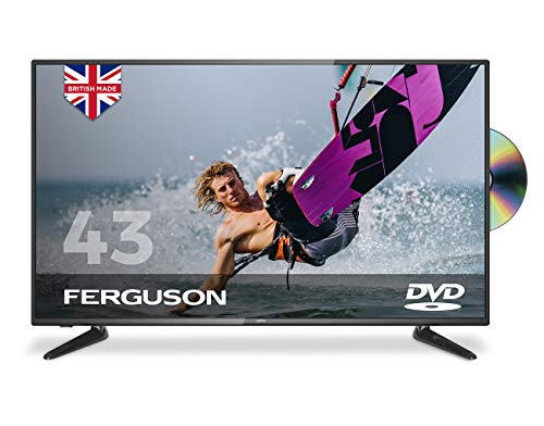 """Ferguson 43"""" Full HD LED TV with DVD Player, Freeview T2 HD and USB,Black"""