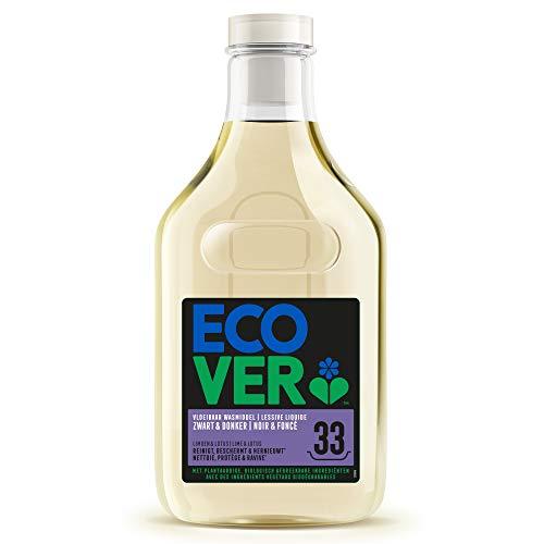 Ecover Lessive Liquide Pour Linge Noir Et Couleurs Foncées   Origine Naturelle Pour Un Linge Propre   Doux Pour La Peau   1,5L - 33 Lavages