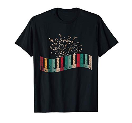 Instrumento Musical Pianista Regalo Retro Teclado De Piano Camiseta