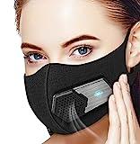 Masque Électrique Anti-Pollution avec Filtres,HEPA N95 Dust Mask de Protection Anti-Poussière...