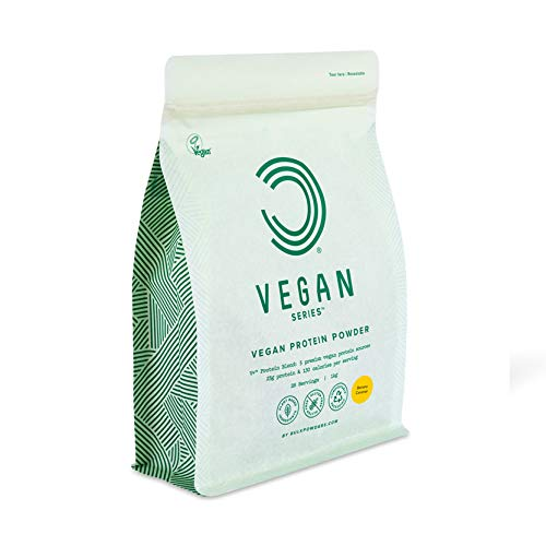 BULK POWDERS Vegan Protein Powder, Banana Caramel, 1 kg