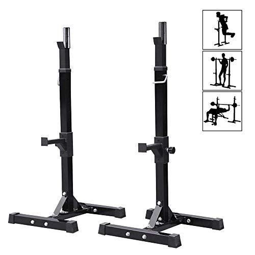 LXYA Aparato para Sentadillas Estante De Barra con Pesas Ajustable Squat Rack En Altura Entrenar Pecho Abdominales Y Espalda con Peso