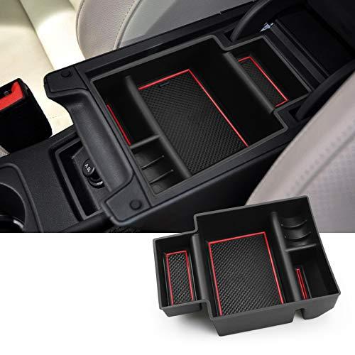 SKTU Guantera para Seat Leon Cupra 5F MK3 2013-2019, con reposabrazos multifunción, caja de almacenamiento con base antideslizante
