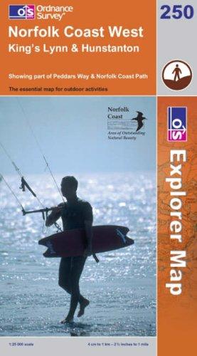 OS Explorer map 250 : Norfolk Coast West