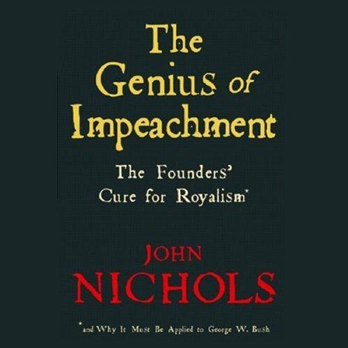 The Genius of Impeachment audiobook cover art