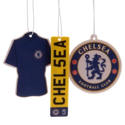 Official Chelsea FC Car Air Freshener (3 Pack) - A Great Gift Present For...