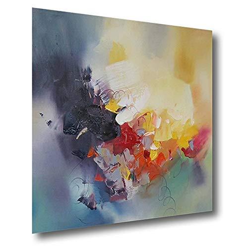 Pintura Al óLeo Pintada A Mano, Cuadros Abstractos Modernos Sobre Lienzo Arte, Sala De Estar Dormitorio DecoracióN Para El Hogar,80×80cm