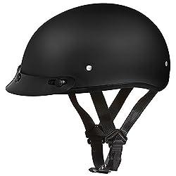 top rated Daytona Helmet Motorcycle Skull Cover Half Helmet – Matte Black, 100% DOT Approved 2021