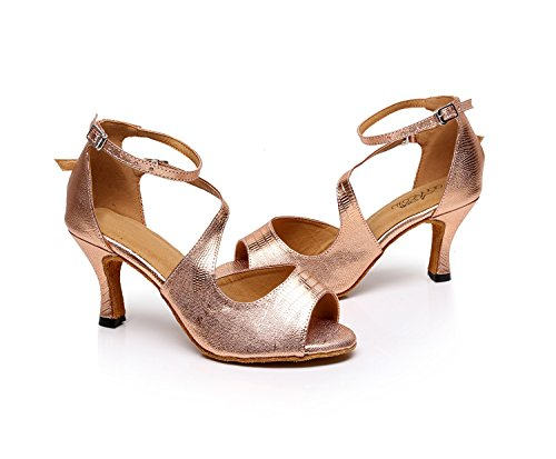 MINITOO , Damen Tanzschuhe, Gold – Rose/Gold-7.5cm Heel – Größe: 39 - 2