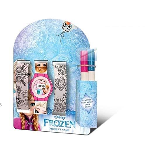 Frozen Orologio Digitale Unisex Bambini con Cinturino in Nessuno KD-WD19420