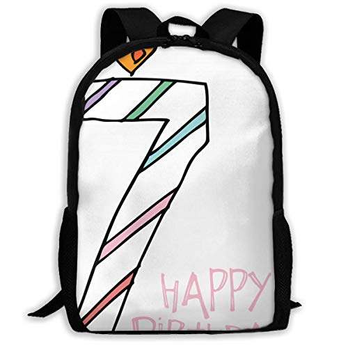 Lawenp Number 7 Take A Cake 7th Birthday Party Hip Hop Adult Unisex Backpack 7 Angel Number,birthday Cake Delivery