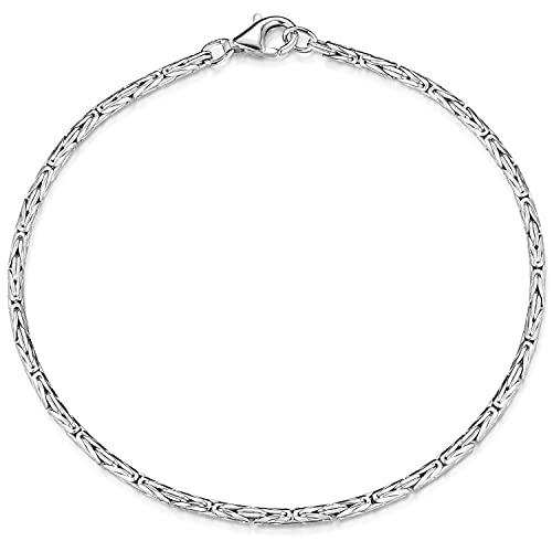 MATERIA Damen Armband Silber 925 Königskette 2,5mm 6,8g rhodiniert 17-23cm + Box #SA-31 (20.00)