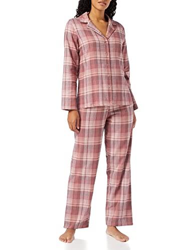 Marca Amazon - IRIS & LILLY Pijama de Modal Mujer, Rosa (Soft Pink&Berry), XS, Label: XS