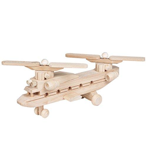 BARTU Hubschrauber Lastenhubschrauber Holz Spielzeug Helikopter