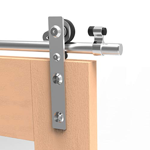 TSMST 152 cm/5 pies de acero inoxidable, herrajes para puertas de madera individuales, sin fricción y silenciosos